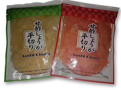 Sushi Gari Mix, eingelegter Ingwer Amazu-Gari, Amazu-Shoga 200g für Sushi und Sashimi