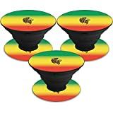 MightySkins Skin Compatible with PopSocket PopSocket - Rasta Lion   Protective, Durable, and Unique Vinyl Decal wrap Cover   Easy to Apply, Remove, and Change Styles   Made in The USA