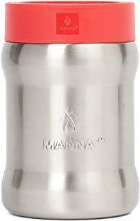 Manna Renegade Stainless Steel Soda and Beer Can Cooler - Holds All Standard 12 oz Cans and Bottles for Sports Games, Home or Camping Trips - Goji Berry