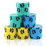 AUPCON Vet Wrap Cohesive Bandages Bulk Self Adhesive Bandage Wrap Self Adherent Wrap Non-Woven for Dogs Pet Animals & Ankle Sprains & Swelling 2 Inch x 5 Yards (2 Inch Claw)