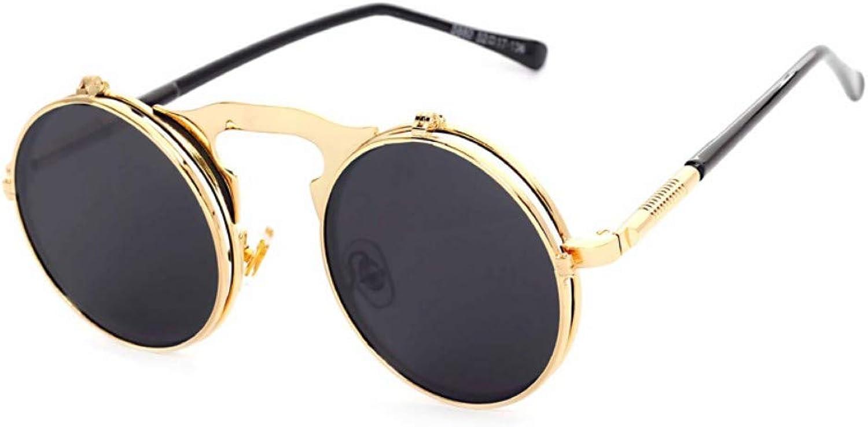 Fuqiuwei Sonnenbrillen Simple And Versatile Personality Retro Round Face Glasses Female Big Face Personality Sunglasses