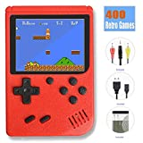 TTSAM Handheld Games Console for Kids Adults Retro FC Video Games Consoles 3 inch Screen 400 Classic Games Player (Red)