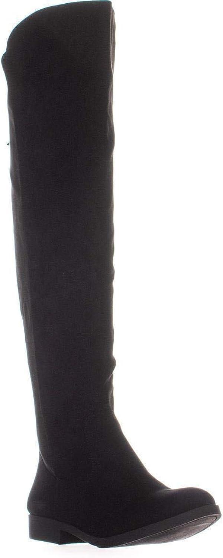 SC35 Hayley Wide Calf Over The Knee Boots, Black