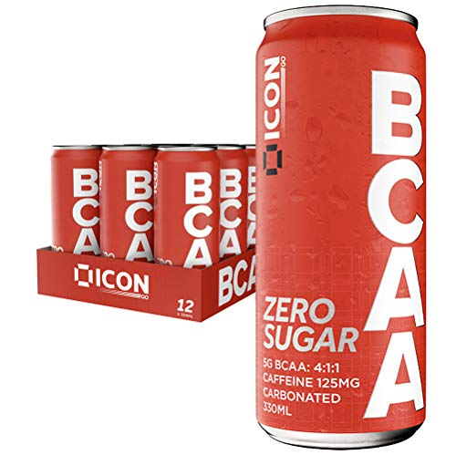BCAA Zero Sugar Energy Drink with 125mg Caffeine Per Serving, 23 Calories, 5,000mg of BCAAs and Vitamin B6-12 x 330ml