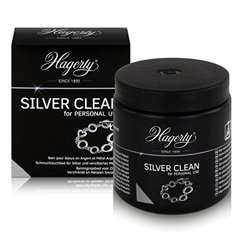 Hagerty Silver Clean 2X (170ml) Silbertauchbad Silber reinigen mit Tauchkorb