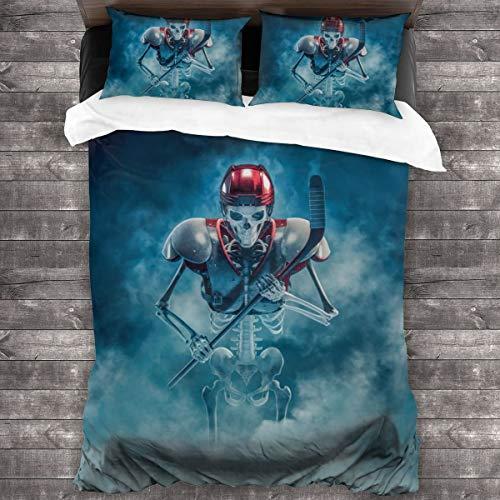 Lichenran Duvet Cover Set,The Phantom Hockey Player,Decorative 3 Piece Bedding Set with 2 Pillow Shams,200 * 200cm*1