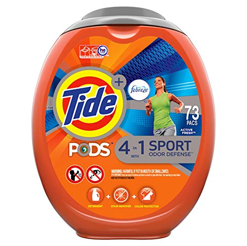 Tide PODS Plus Febreze 4 in 1 with AVEC Sport odor defense, 73 Count (Pack of 1)