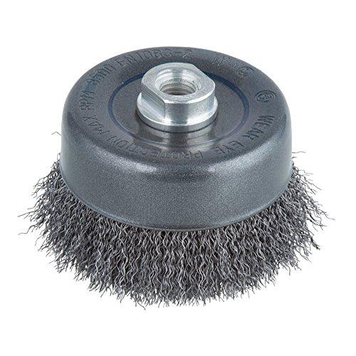 Wolfcraft 2151000 cepillo metálico, forma de copa, trenzado rosca M 14 PACK 1,argent