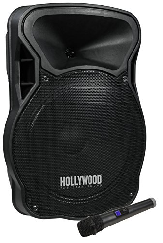 HOLLYWOOD the Starsound - Mobile Beschallungsanlage/PA-Anlage | MB-15 | 700W, Funkmikrofon