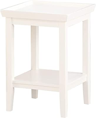 Convenience Concepts Ledgewood End Table, White