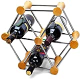 Estante de Almacenamiento de Vino apilable TYXL, Estante de Almacenamiento de Vino de Mesa de Cocina para el hogar, Estante de Metal de Cobre para Copas de Vino