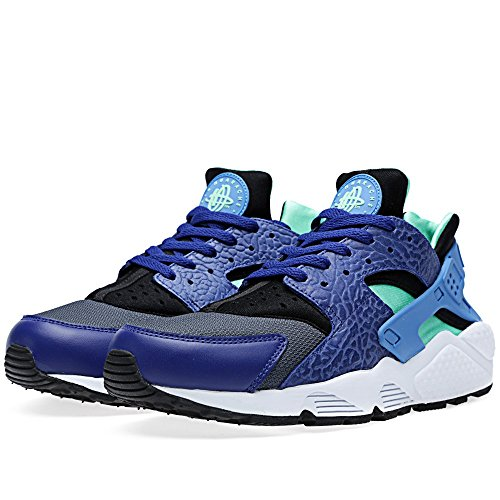 Nike Mens Air Huarache Royal Blue Navy Green Elephant Nubuck Mesh Trainer Size 5.5 UK
