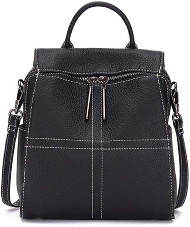 Onzama Women Genuine Leather Backpack Fashion Girls Travel School College Daypack Shoulder Bag Black