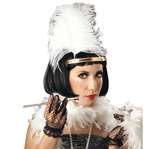 NET TOYS Elegante Schwarze Charleston Perücke für Damen 20er 30er Jahre Mode Perücke Frisur schwarz Charlestonperücke