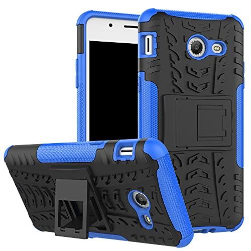 ZHANGHUI Funda Protectora Funda Protectora para Samsung Galaxy J5 2017, TPU + PC Funda Robusta híbrida de Grado Militar, Caja de teléfono a Prueba de Golpes con Soporte (Color : Dark Blue)