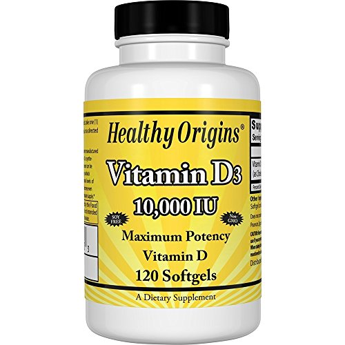 Healthy Origins - Vitamina D3 10000 IU - 120 Cápsulas blandas