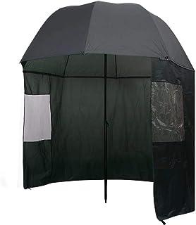 vidaXL Fishing Umbrella Green 300x240cm Outdoor Protection Wind Rain Shelter