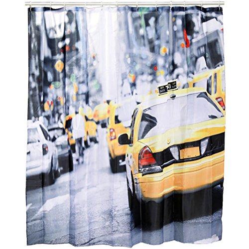 Kunststoff-Duschvorhang, New York - Taxi, ca. 180 x 180 cm