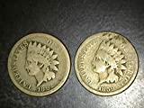 Set of 2 Indian Head Copper Nickels dated...
