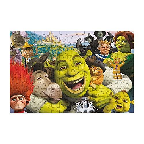 Shrek - Rompecabezas de 150 piezas para adultos y niños, rompecabezas de la tienda de juguetes de 150 piezas para niños, juguetes educativos para juegos de regalo