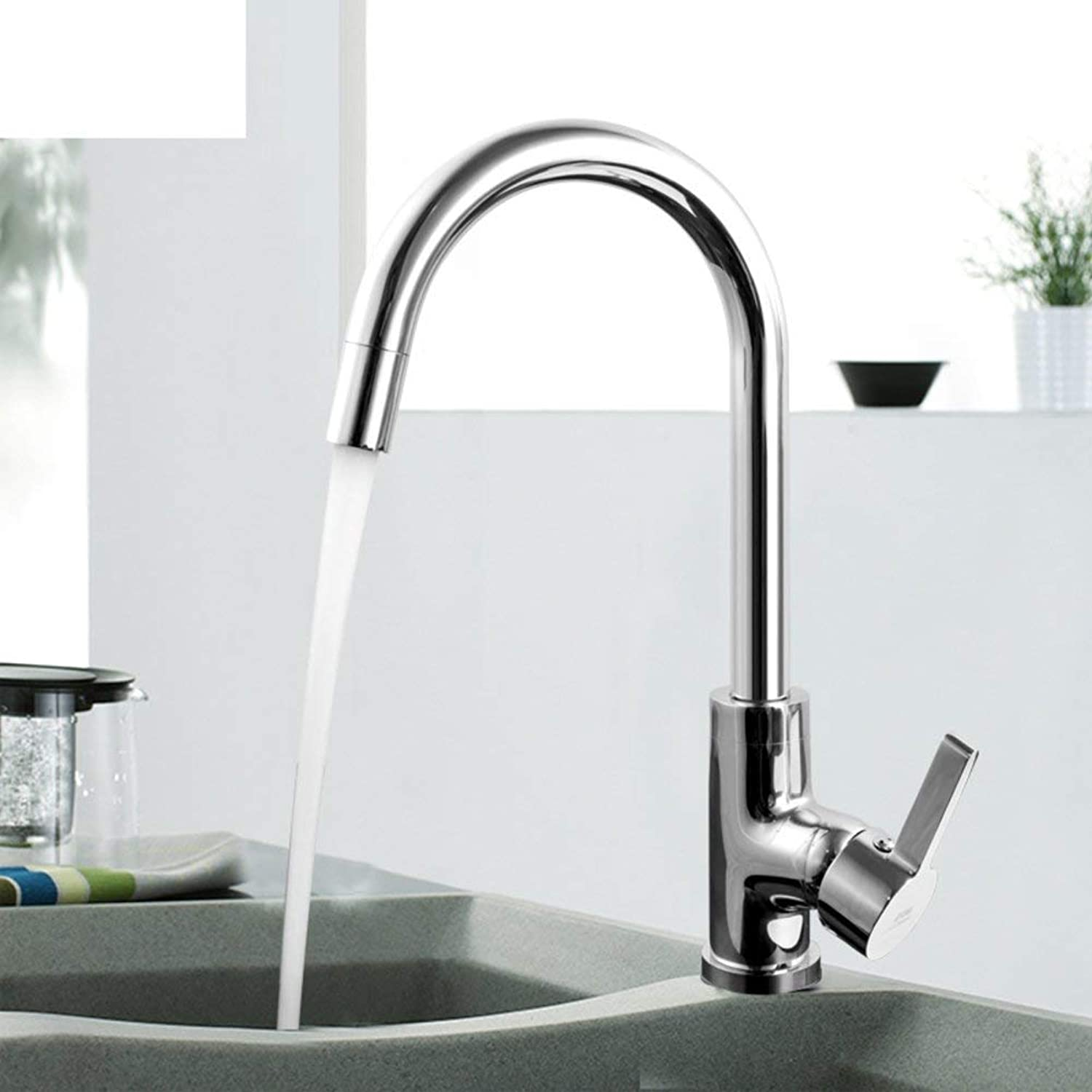 Oudan Kitchen faucet Vegetables basin faucet Hot and cold sink faucet redary washing faucet-A (color   -, Size   -)