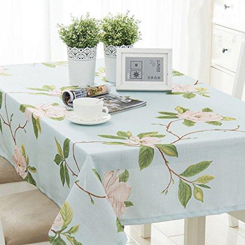 Nappe européenne Nappes Rectangulaires - Coton/Lin / Table Basse/Table à Manger/Cuisine / Table Nappe Frais et Naturel, Peau Respirante 90 * 130cm (taille : Rectangular -100 * 160 cm)