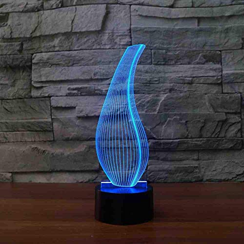 3D abstracte vorm tafellamp 7 kleuren LED vaas fles nachtlicht USB Kids Touch baby slaap verlichting slaapkamer decor geschenken