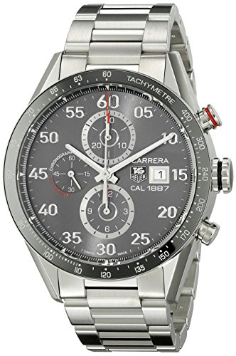 Tag Heuer Carrera Calibre 1887 Automatic Chronograph Grey Dial Stainless Steel Mens Watch CAR2A11BA0799