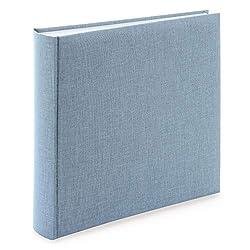 goldbuch Fotoalbum Summertime Trend 2 mit 100 weißen Seiten mit Pergamin-Trennblättern und Leineneinband, für bis zu 600 Bilder, 31607, Hochwertiges Papier, Blau/grau, 30 x 31 cm