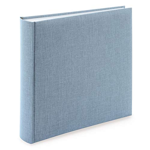 Goldbuch Summertime Trend 2 31607-Álbum de Fotos (100 páginas con separadores de pergamino y Cubierta de Lino, hasta 600 imágenes), Papel, Azul y Gris, 30 x 31 cm