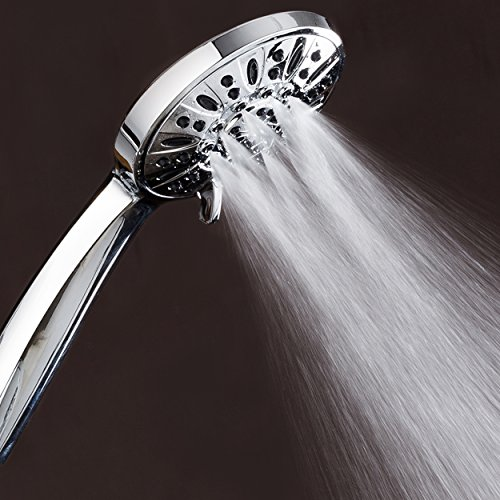 AquaDance High Pressure 6-Setting 4' Chrome Face Handheld Shower with Hose for the Ultimate Shower Experience! Officially Independently Tested to Meet Strict US Quality & Performance Standards