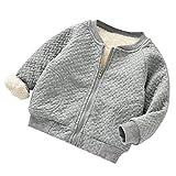 Longra Abrigo para Bebés Abrigo Bebés Outwear Jersey Invierno Chaqueta Ropa para Niños (12M, Gris)