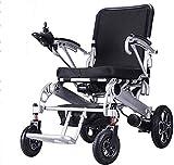 WXDP Silla de ruedas autopropulsada, eléctrica, plegable, multifuncional 250 W doble motor inteligente discapacitado para vacaciones días fuera y viajes de compras