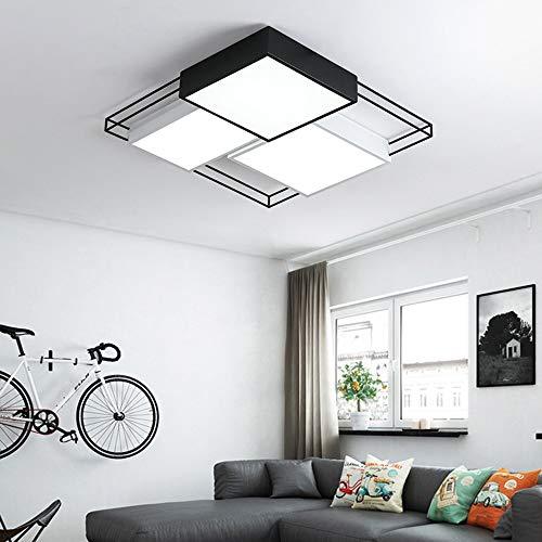 De enige goede kwaliteit Indoor Creatieve Persoonlijkheid Slaapkamer Lamp Led Plafond Lamp Kamer Lamp Zwart En Wit Combinatie Huishoudelijke Smeedijzeren Lampen Eenvoudige Moderne Lamp