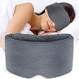 Sysrion Eye Mask for Sleeping - Ultra Soft Comfortable Sleep Mask for Sleep Nap Travel Shift Work, Nose Pad Designed Light Blocking Eye Blinder, Fully Adjustable Strap