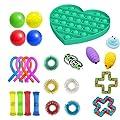 TiKiNi Sensory Fidget Toys Set de 24 piezas de juguetes para alivio del estrés, conjunto de juguetes sensoriales, juguetes para terapia sensorial para ADHD, autismo, estrés y ansiedad de TiKiNi