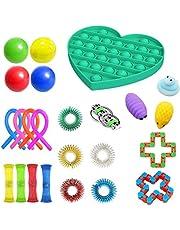 Hinder Fidget sensoriska leksaker för autism ADHD, 24-pack stressavlastning leksaker fiol leksaker för barn och vuxna