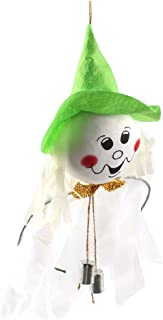 TINKSKY Halloween Wind Chime Ghost Scarecrow Wind Bells Hanging for Halloween Party KTV Decoration (White)