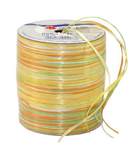 Präsent Bastband, gelb-orange-grün, 50-m-Spule
