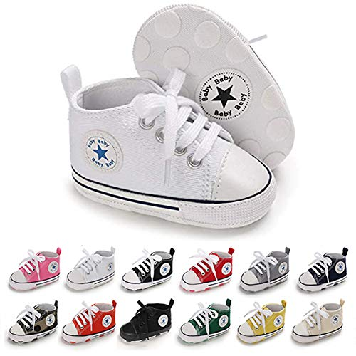 Converse Unisex-Child Chuck Taylor All Star Canvas High Top Sneaker, Optical White, 5 INFANT US