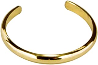 California Toe Rings Women's 14K Gold Filled Plain Band Adjustable Midi Above The Knuckle Toe Ring One Size Fits All Most