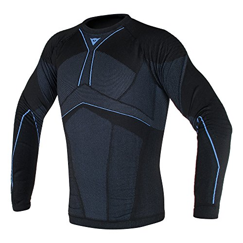 Dainese D-Core Aero T-shirt Ls XL/X zwart/kobalt-blauw.