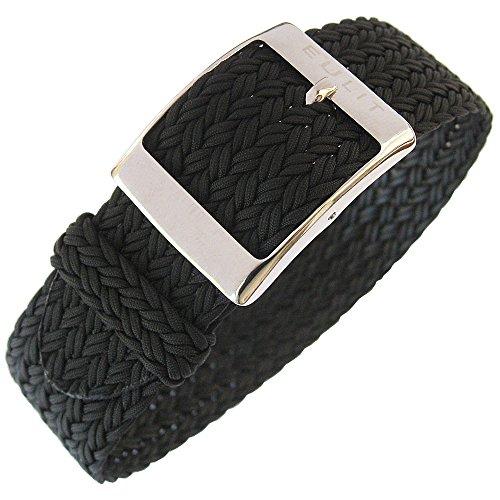 Eulit Palma 22mm Black Perlon Watch Strap