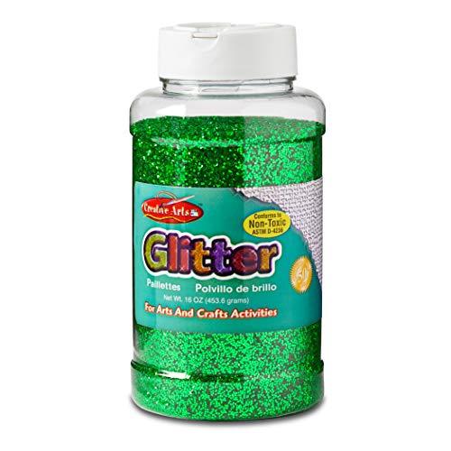 Creative Arts by Charles Leonard Glitter, 16 Ounce Bottle, Green (41125)