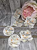 Wedding Favor Tags, Rustic Wood Style Favor Tags, Wedding Tags, Gold Foil Tags, Foil Wedding Favor Tags, Fall In Love Favor Tags, Autumn Wedding Favor Tags, Gift Tags, Thank You Tags