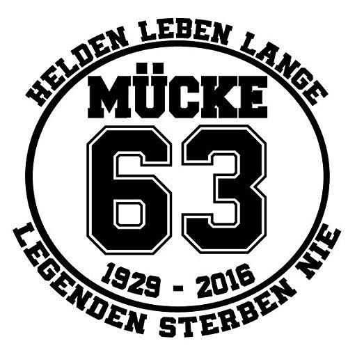 myrockshirt Helden Leben Lange Bud Spencer Mücke Bulldozer 63 typ2 30cm Aufkleber,Sticker,Decal,Autoaufkleber,UV&Waschanlagenfest,Profi-Qualität