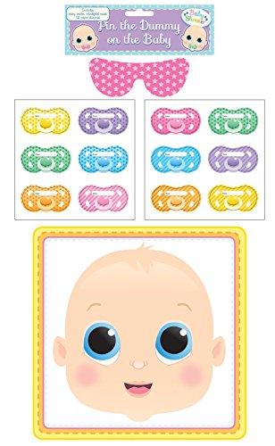 Baby Taufparty Spiel Pin The Dummy Schnuller Auf Das Baby