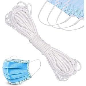 Airssory 420~480meters Round Elastic Thread Band for Ear Loop Elastic Cord DIY-Mask Material 2.5~3mm