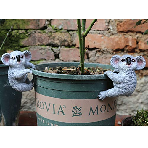 NYKK Home Accessories Garden Miscellaneous Goods, Garden, Small Ornaments, Garden Decorations, Outdoor Creative Small Animal Ornaments, Two Koalas Decorative Accessories/Sculptures