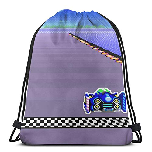 F-Zero Snes Colors Sport Bag Gym Sack Drawstring Backpack Cinch Pack